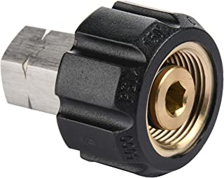 Tool Daily Pressure Washer Adapter, Female Metric M22 to 1/4 Inch Female NPT Fitting, 5000 PSI