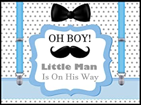 speedy orders Little Man Baby Shower Backdrop, Little Men Banner Sizes 36x24, boy Baby Shower Decorations, Mustache, Bow tie, Bowtie, Oh Boy Baby Shower Poster, Wall Posters