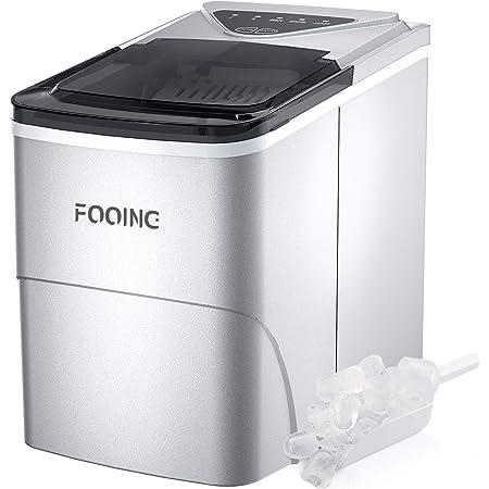 Machine à glaçons de cuisson - Machine à glaçons - Comptoir - Prêt en 6 minutes - 2 litres - Avec pelle à glace et panier - Affichage LED - Pour la maison, le bar, la cuisine, le bureau