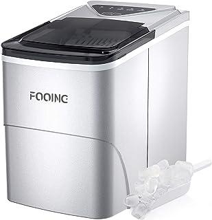 Machine à glaçons de cuisson - Machine à glaçons - Comptoir - Prêt en 6 minutes - 2 litres - Avec pelle à glace et panier...