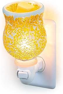 Dawhud Direct Mosaic Glass Plug-in Fragrance Wax Melt Warmers (Crackled Amber)