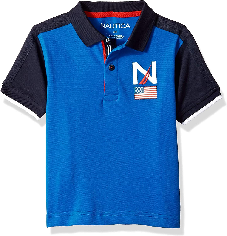 Nautica Boys Short Sleeve Heritage Polo Shirt