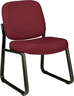 OFM Model 405 Fabric Armless Guest and Reception Chair, Wine