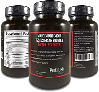 Testosterone Booster and Male Enhancement Supplement- Boosts Natural Stamina, Energy, & Endurance. Increases Muscle Strength & Fat Burning.