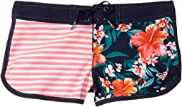 Roxy Kids - Waves Color Block Boardshorts (Big Kids)