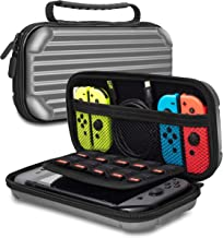 Case for Nintendo Switch Carrying Case Portable Carrier Travel Carry Case Hard Shell Pouch for Nintendo Switch Joy Con, Console, Cable, Gamecards Storage for Games Mario Zelda Pokemon Odyssey Splatoon