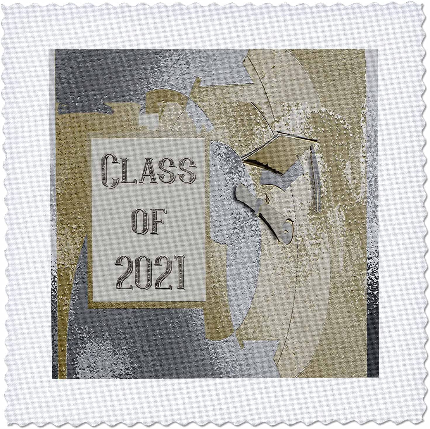3dRose Image of Class 2021 Cap Max 55% OFF Abstract S and Gold Diploma Dallas Mall