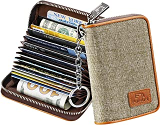 Credit Card Wallet, Zipper Card Cases Holder for Men Women, RFID Blocking, Key Chain,..