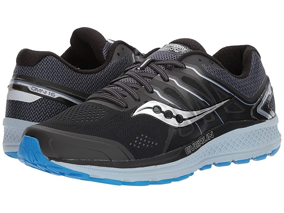 Saucony Omni 16 (Black/Grey/Blue) Men