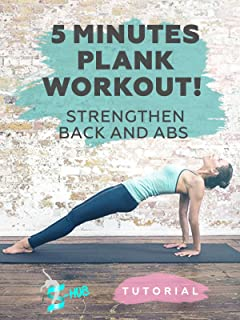 5 Minutes Plank Workout! Strengthen back and abs!