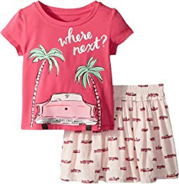 Kate Spade New York Kids - Where Next Skirt Set (Toddler/Little Kids)