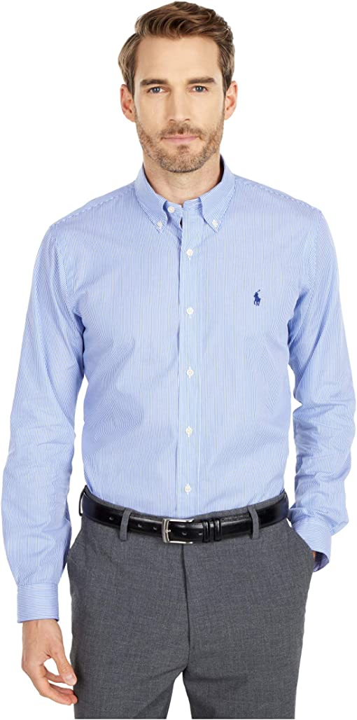 Blue/White Hairline Stripe