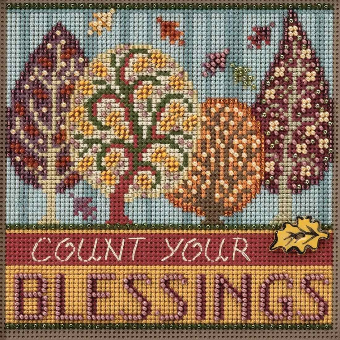Blessings Beaded Counted Cross Stitch Buttons Mill Hill Weekly update Quantity limited Kit 2017