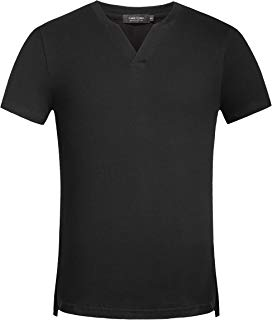 Colen Cosmo Men's Cotton Stylish Casual Short Sleeve Slim Fit Tee Shirts