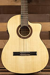 Cordoba C5-CET Limited Spalted Maple Thin Body Cutaway Classical Acoustic-Electric Nylon String Guitar, Iberia Series
