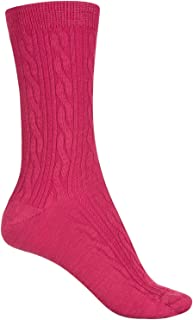 SmartWool Women's Cable II Socks (Punch, Small)