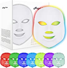 Led Face Mask - Angel Kiss 7 Color Photon Blue Red Light Therapy Skin Rejuvenation Facial Skin Care Mask