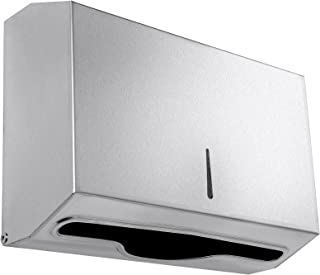 Paper Towel Dispenser - 304 Grade Stainless Steel - Lockable Design - 250 C-Fold Capacity - 300 Multi-Fold Capacity - by Dependable Direct