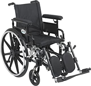 Drive Medical Viper Plus GT Wheelchair with Flip Back Removable Adjustable Full Arms, Elevating Leg Rests, 16