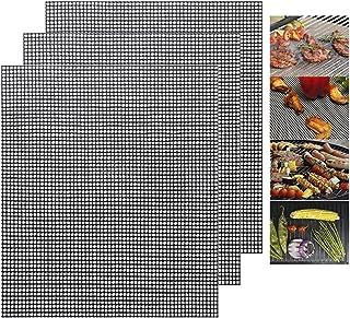 Soskakiist Grille Barbecue, Tapis Barbecue 3 PCS, Tapis de Cuisson Antiadhésif, pour Le Barbecue D'intérieur et Extérieur,...