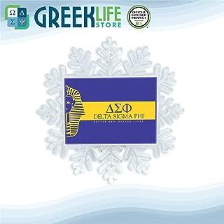 greeklife.store Delta Sigma Phi Snowflake Ornament Christmas Decor