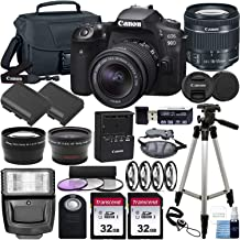 $1229 » Canon EOS 90D DSLR Camera and Canon EF-S 18-55mm f/3.5-5.6 is STM Lens & Deluxe Accessory Bundle – Includes: 2X 32GB SDHC Memory Card, Extended Life Battery, Carrying Case & More!