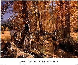 Eric's Fall Ride by Robert Dawson Art Print, 17 x 14 inches