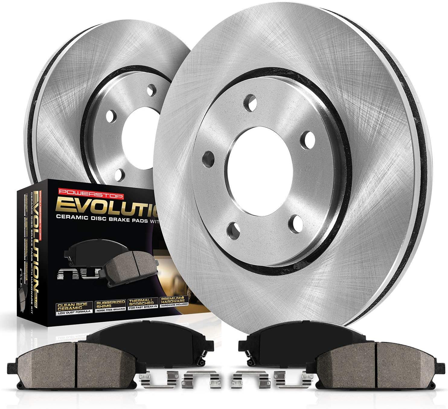 No Hardware Included For Brake Pads Rear Disc Brake Rotors and Ceramic Brake Pads for 2015 Volkswagen Jetta With Two Years Manufacturer Warranty