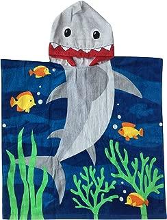 Athaelay Soft Cotton Hooded Towel for Kids Bath Pool Beach, Shark Theme