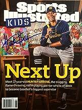 HUNTER GREENE Cincinnati Reds Autographed Sports Illustrated for Kids magazine 6/17