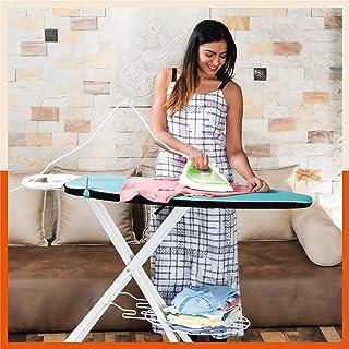 Bathla X-Pres Ace Plus - Extra Large Foldable Ironing Board with Aluminised Ironing Surface (Teal)