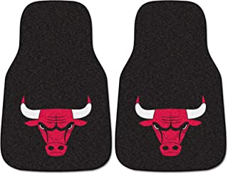 "FANMATS - 9225 NBA Chicago Bulls Nylon Face 2-pc Carpet Car Mat Set, 18""x27"""