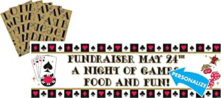 Casino Party Personalize It! Giant Sign Banner, 65