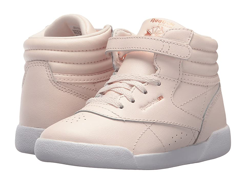 Reebok Kids F/S Hi Muted (Infant/Toddler) (Pale Pink/White/Cool Shadow) Girls Shoes