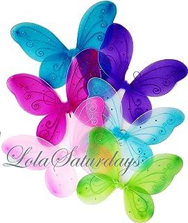 LOLASATURDAYS 6 Pack Assorted Fairy Wings (22