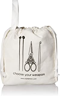 Fair Isle Yarn 1019101124 Mini Project Bag, White
