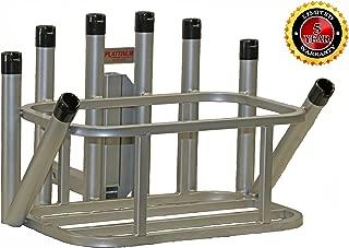 Plattinum Products Fishing Rod Holder Cooler Holder Combo w/Notch Caps (Mill Finish)