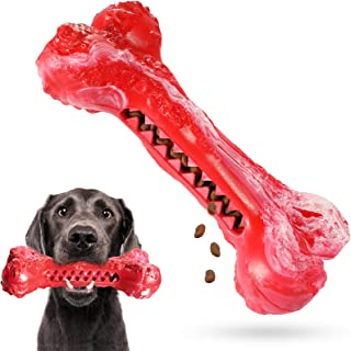 Dog Chew Toys for Aggressive Chewers Large Breed,Tough Durable Dog Bone Toy for Medium Large Dogs,Dog Toothbrush Rubber Te...