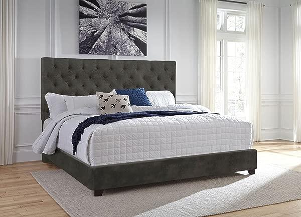 Steve Silver Upholstered Bed In Gray King 87 5 In L X 81 25 In W X 58 In H