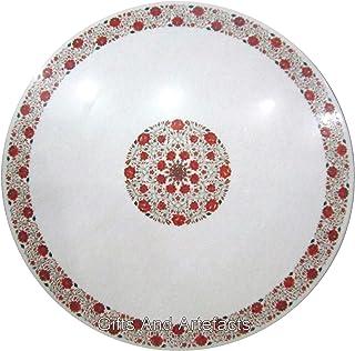 60 pulgadas blanco mesa de centro superior mármol mesa de comedor piedras preciosas incrustadas para un estilo de vida lujoso