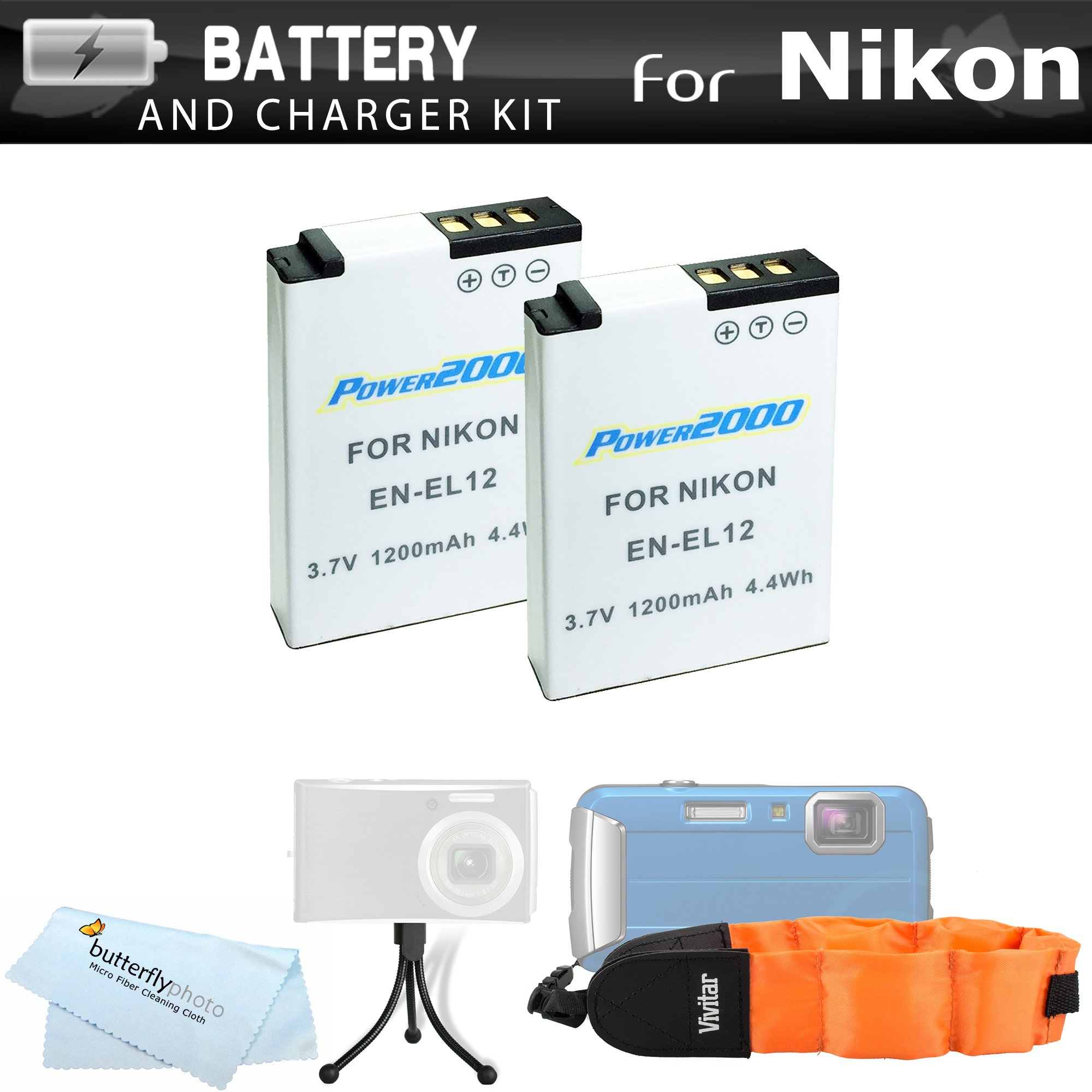 2 Pack Kit de Batería para Nikon Coolpix W300, AW130, AW120, AW110 ...
