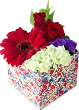 父の日 花 ギフトプレゼント 高級 フラワーアレンジメント 生花 お祝い 誕生日 フラワーデザイナーおまかせ (リバティボックスSサイズ)