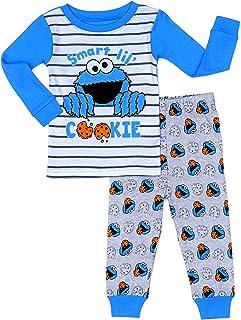 C-o-o-k-i-e M-o-n-s-t-e-r Smart Lil Cookie Baby Boy/Girl Cotton Sleepwear Set - Blue-Gray-White 2 Pc