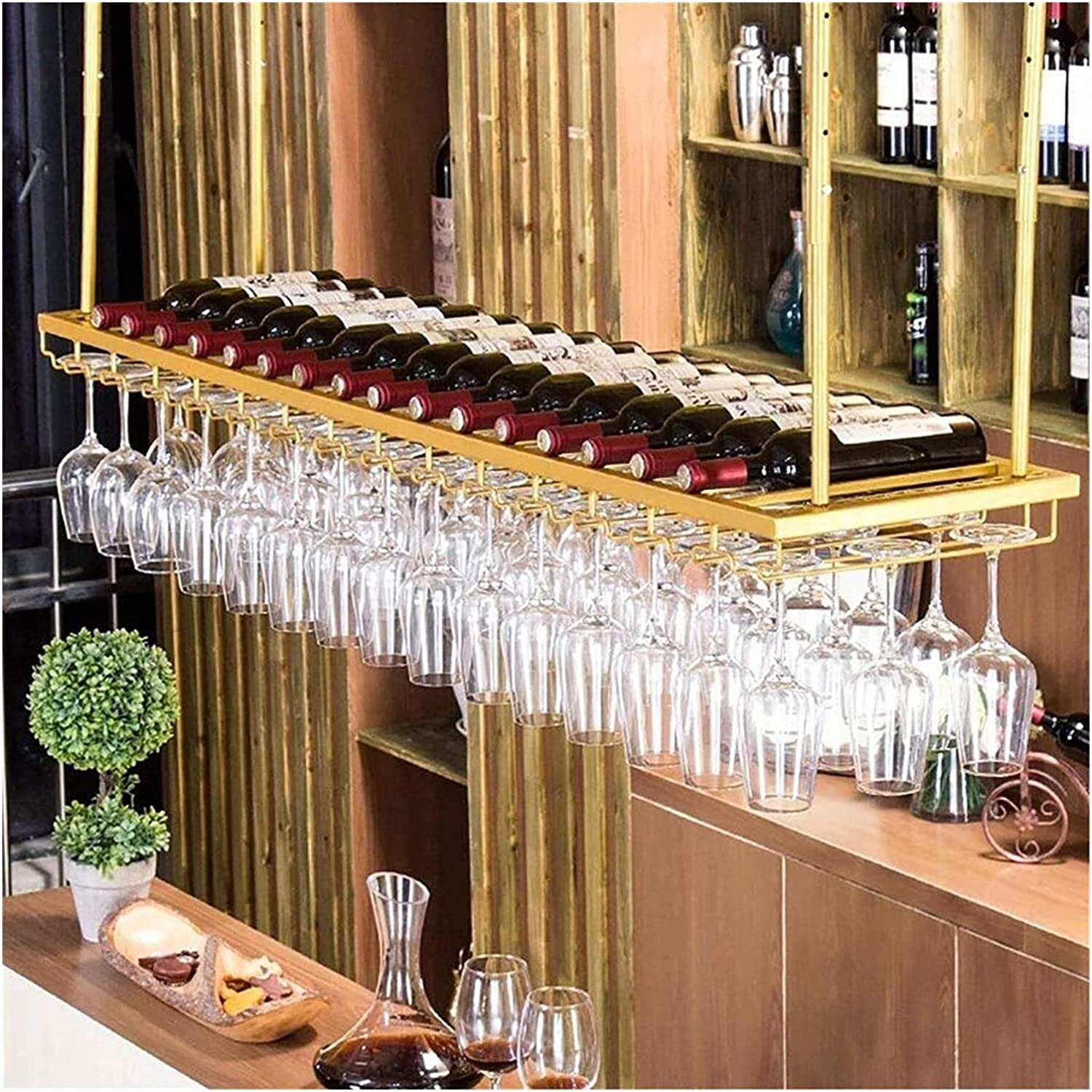 LXYYY Wine Rack Ceiling San Diego Mall Holder Same day shipping Hanging Bottle