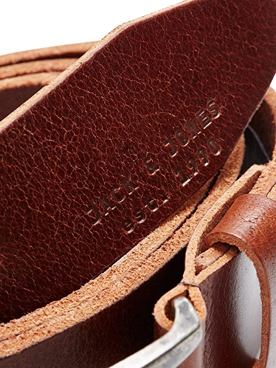 Jack /& Jones Jjilee Leather Belt Noos Cintur/ón para Hombre