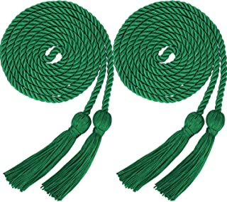 2 Pieces Graduation Cords Polyester Yarn Honor Cord with Tassel for Graduation Students (Green)