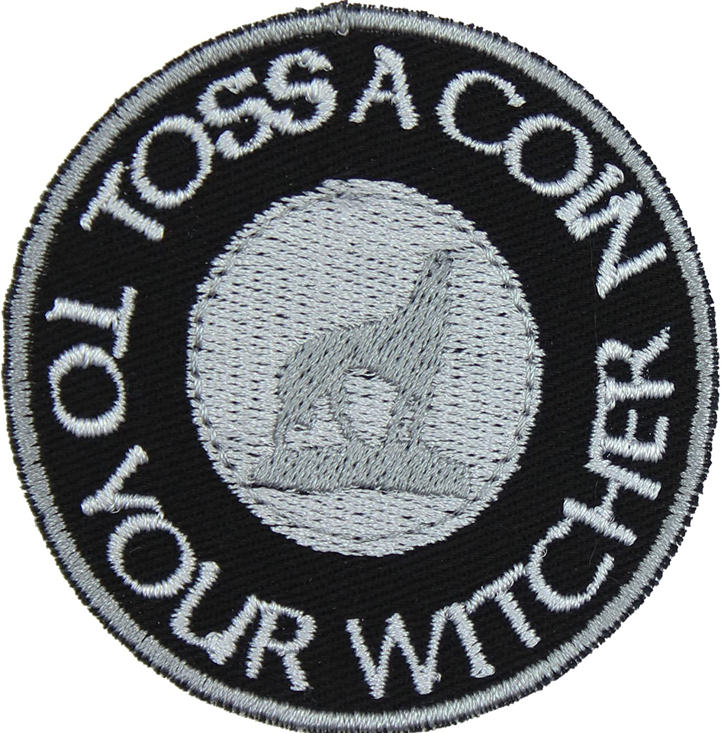 Toss a Coin to Your Witcher Iron Fort Worth Mall - Sale special price Ligh Applique Black On Patch