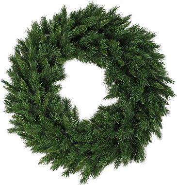 "Northlight V03944 Lush Mixed Pine Artificial Christmas Wreath, 24"""