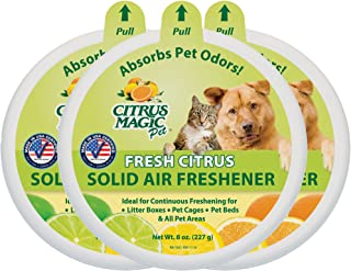 Citrus Magic Pet Odor Absorbing Solid Air Freshener, Pack of 3, 8-Ounces Each