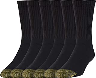 Gold Toe unisex-adult Cushioned Cotton Short Crew Socks, 6-pack Socks